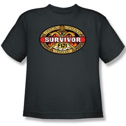 Survivor Kids T-Shirt - Fiji Charcoal Youth