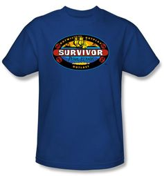 Survivor Kids T-Shirt - Pearl Islands Royal Blue Youth