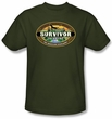 Survivor Kids T-Shirt - Tocantins Logo Military Green Youth