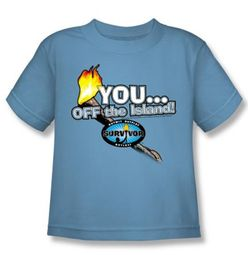 Survivor Kids T-Shirt � You Off The Island Carolina Blue Youth