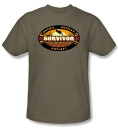 Survivor T-Shirt  - Australian Outback Adult Safari Green