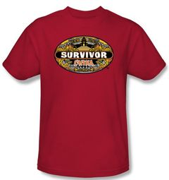 Survivor T-Shirt  - China adult Red
