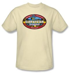 Survivor T-Shirt  - Cook Island Adult Cream