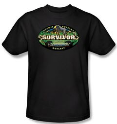 Survivor T-Shirt - Gabon Logo Adult Black