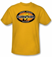 Survivor T-Shirt - Gold Burst Adult Gold