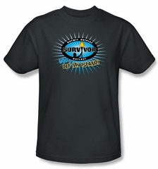 Survivor T-Shirt - Off My Island Adult Charcoal