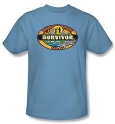 Survivor T-Shirt - Redemption Island Adult Carolina Blue