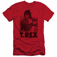 T.Rex Shirt Slim Fit Lounging Red T-Shirt