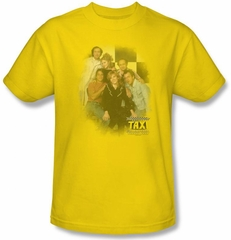 Taxi Cast T-Shirt - Classic TV Adult Yellow Tee