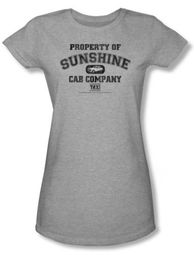 Taxi Juniors T-Shirt - Property Of Sunshine Athletic Grey