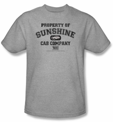 Taxi T-Shirt - Property Of Sunshine Adult Athletic Grey