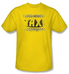 Taxi T-Shirt - Run Down Taxi Adult Yellow