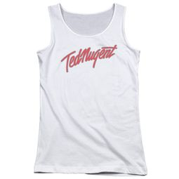 Ted Nugent Juniors Tank Top Clean Logo White Tanktop