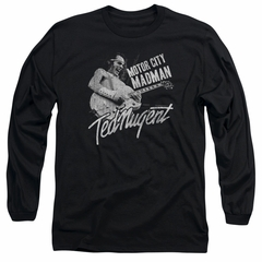 Ted Nugent Long Sleeve Shirt Madman Black Tee T-Shirt