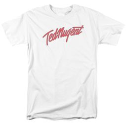 Ted Nugent Shirt Clean Logo White T-Shirt
