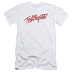 Ted Nugent Slim Fit Shirt Clean Logo White T-Shirt