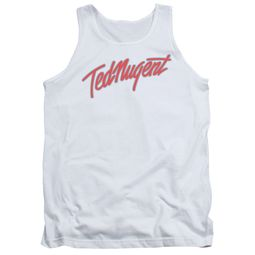 Ted Nugent Tank Top Clean Logo White Tanktop