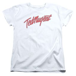 Ted Nugent Womens Shirt Clean Logo White T-Shirt