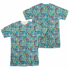 Teen Titans Go Shirt Pattern Sublimation Shirt Front/Back Print