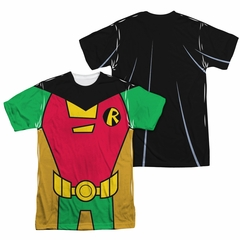 Teen Titans Go Shirt Robin Uniform Sublimation Shirt Front/Back Print