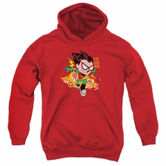 Teen Titans Go Youth Hoodie Robin Red Kids Hoody