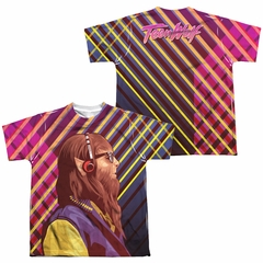 Teen Wolf Wolf Rays Sublimation Youth Shirt Front/Back Print