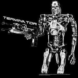 Terminator Shirt Boom Adult Black Tee T-Shirt