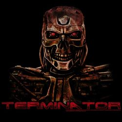 Terminator Shirt Code Red Adult Black Tee T-Shirt