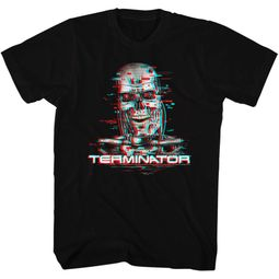 Terminator Shirt Glitch Black T-Shirt