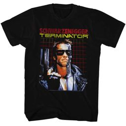Terminator Shirt Grid Black T-Shirt
