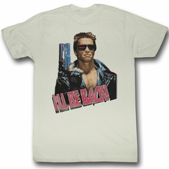 Terminator Shirt I'll Be Back Adult Tee - Off White