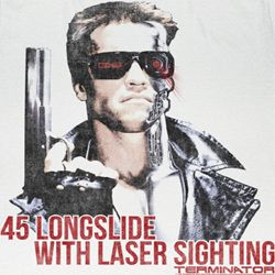 Terminator Shirt Laser Sighting Adult White Tee T-Shirt