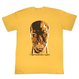 Terminator Shirt Metal Skull Gold T-Shirt