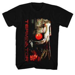 Terminator Shirt Red Eye Black T-Shirt