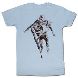 Terminator Shirt Sketch Light Blue T-Shirt