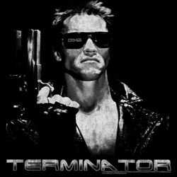 Terminator Shirt Terminate Adult Black Tee T-Shirt