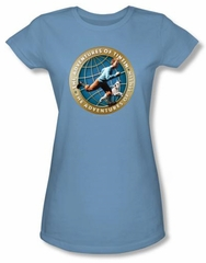 The Adventures Of Tintin Juniors T-Shirt - Around The Globe Tee Shirt