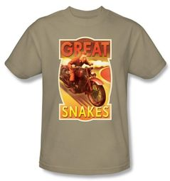 The Adventures Of Tintin T-Shirt � Great Snakes Sand Adult Tee Shirt
