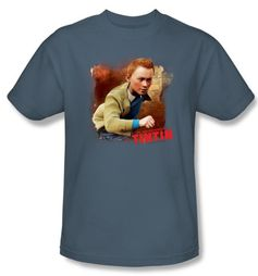 The Adventures Of Tintin T-Shirt � Title Slate Blue Adult Tee Shirt