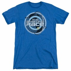 The Amazing Race Around The World Royal Blue Ringer Shirt