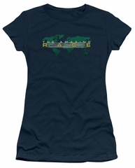 The Amazing Race Juniors Shirt Around The World Navy Blue T-Shirt