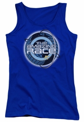 The Amazing Race Juniors Tank Top Around The World Royal Blue Tanktop