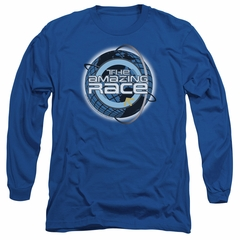 The Amazing Race Long Sleeve Shirt Around The World Royal Blue Tee T-Shirt