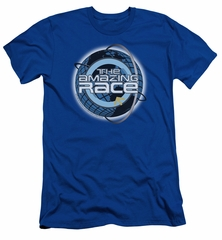 The Amazing Race Slim Fit Shirt Around The World Royal Blue T-Shirt
