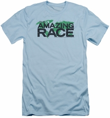 The Amazing Race Slim Fit Shirt World Light Blue T-Shirt