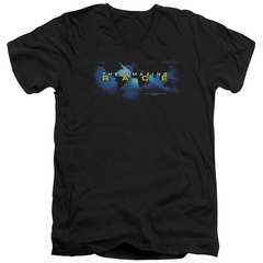 The Amazing Race Slim Fit V-Neck Shirt Faded Globe Black T-Shirt