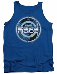 The Amazing Race Tank Top Around The World Royal Blue Tanktop
