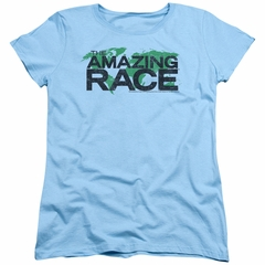 The Amazing Race Womens Shirt World Light Blue T-Shirt