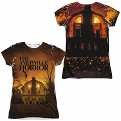 The Amityville Horror House Sublimation Juniors Shirt Front/Back Print