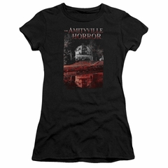 The Amityville Horror Juniors Shirt Cold Red Black T-Shirt